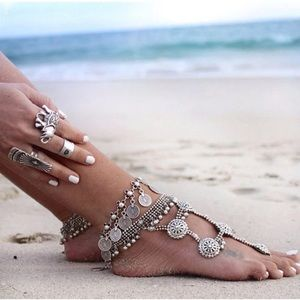 Jewelry - 💕Bohemian Tibetan coin anklet